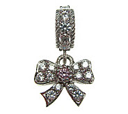 Judith Ripka Sterling Diamonique Bow Charm - J304377