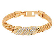 Jacqueline Kennedy Simulated Diamond Pave Mesh Bracelet - J269379
