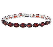 24.00 ct tw Orissa Indian Garnet 6-3/4 Sterling Tennis Bracelet - J275779