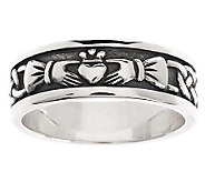 Solvar Sterling Silver Mens Claddagh Ring - J275979