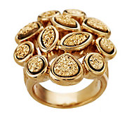VicenzaGold Multi-shape Drusy Quartz Ring, 14K Gold - J262180