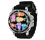 Jelly Style Watch with Mood Changing Face and Silicone Straps - J272780