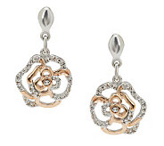 Jean Butler Sterling Silver & Gold Plated Irish Rose Earrings - J274281