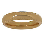 EternaGold Fancy Border Silk Fit Band Ring, 14K Gold - J263383