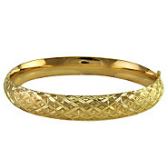 EternaGold 8 Quilted Pattern Bangle 14K 11.1 grams - J107684