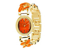 Linea by Louis DellOlio Enamel Link Watch - J277885