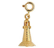 14K Yellow Gold 3-D Lighthouse Charm - J107986