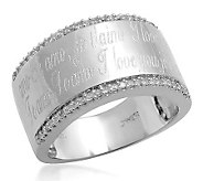 Affinity Diamond Sterling 1/7cttw Engraved Ring - J112586