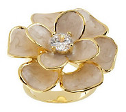 Joan Rivers Pretty Petals Enamel Flower Ring - J159486