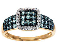 0.60 ct tw Alexandrite & 1/10 ct Diamond Band Ring, 14K - J275786