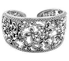 Ann King Sterling Flower Cuff Bracelet