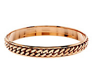 Bronzo Italia Large Single Row Curb Link Round Bangle - J277987