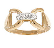 AffinityDiamond High Polished Status Link Ring, 14K Gold - J277888