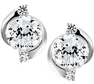 Epiphany Diamonique 100-Facet Round Stud Earrings - J312090