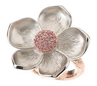 Dweck Diamonds Sterling & Pink Sapphire Magnolia Ring