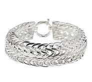 Sterling 8 Bold Polished Woven Bracelet, 25.0g - J266392