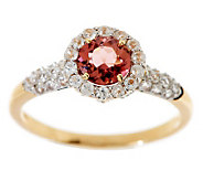1.10 ct tw Pink Tourmaline & White Zircon Ring, 14K - J271192