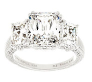Judith Ripka Sterling Three Stone 9.00cttw Diamonique Ring - J279892