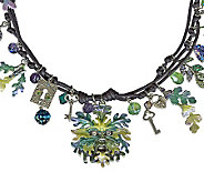 Kirks Folly Enchanted Forest Green Man Multi-Strand Necklace - J310192