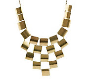 Joan Rivers Checkerboard Bib 18 Necklace w/3 Extender - J269594