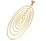 Polished Multi-oval Graduated Pendant 18K Gold - J91096