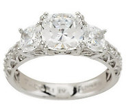 Tacori IV Diamonique Epiphany Bloom Cut 3-Stone Ring - J270799