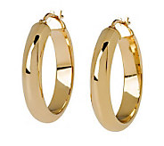 Veronese 18K Clad 1&quot Wedding Band Hoop Earrings - J299099
