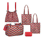 Sachi Shop, Pack & Go Set with Market Totes and Cool Gem - K37109