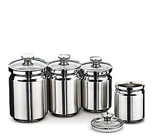 Tramontina 4 Piece Stainless Steel Canister Set