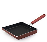 Cooks Essentials  8&quot Square Japanese Skillet -Red - K130840