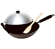 Asian Origins 14 Nonstick Wok 4-Piece Set - K301340