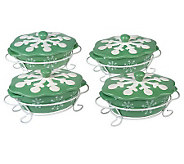 Temp-tations Snowflake Set of 4 Mini Bakers w/ Figural Lid - K34643