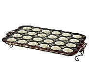 Temp-tations Floral Lace 24-Cup Mini Muffin Pan w/ Wire Rack - K37850