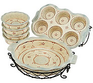 Temp-tations 8-piece Ceramic Baking Set - K37651