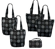 Sachi Set of 4 Market Totes w/Carrying Case - K37653