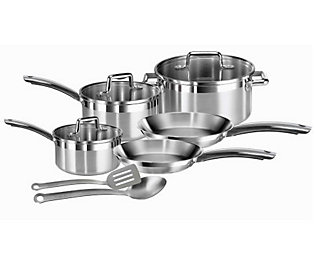 T-Fal C878SA74 Elegance 10-Piece Stainless Steel Cookware Set