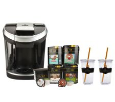 Keurig Vue Brewer w/66 Vue Packs, Water Filter & 2 Tumblers
