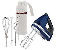 K34571 - KitchenAid Professional 9 Speed HandMixer w/Bag& Attachments