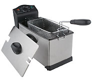 CooksEssentials 3 Quart 1700 Watt Stainless Steel Deep Fryer - K34180