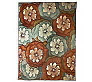 Indoor/Outdoor 94 x 120 All Weather Olefin Blossoms Rug - M26528