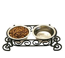 Scrollwork Double Diner 1-pint Dog Dish