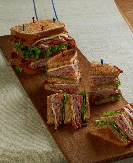 Roast Beef Club Sandwich