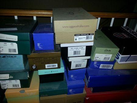 Carolyn Gracie's shoe boxes