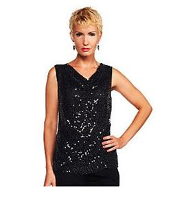 Joan Rivers Sequin Shell