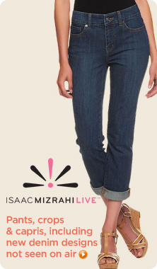 Isaac Mizrahi Live!(TM) Crop Denim Jean