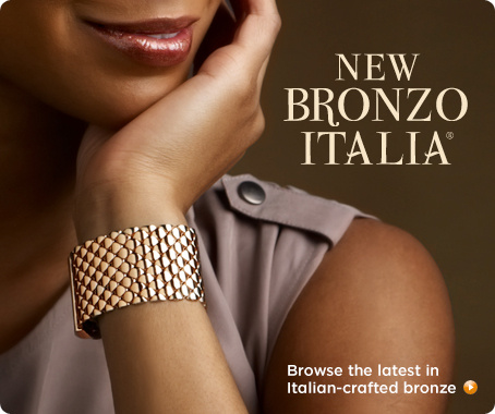 Bronzo Italia(R) Quilted Link Bracelet