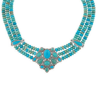 Carolyn pollack sterling jewelry 16 turquoise necklace for Carolyn pollack jewelry qvc