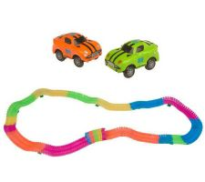 Twister Trax 253pc Glow in the Dark Flexible Track w/2 Cars