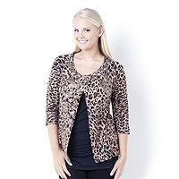 103403  Storybook Knits Leopard Appliqued Knit Cardigan