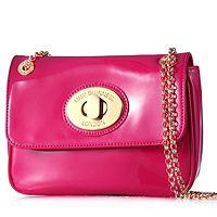106008  Lulu Guinness Small Eyelet Patent Leather Handbag
